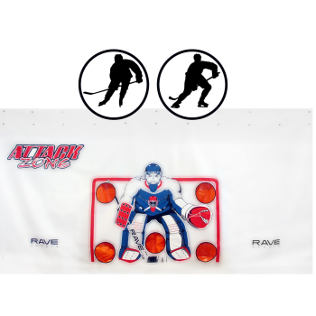 Rave Sports Attack Zone 16' x 8' Hockey/Lacrosse Protective Shooting Tarp