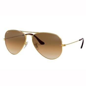 Ray-Ban Aviator Classic Sunglasses - Polished Gold/Gold Brown Gradient Classic B-15