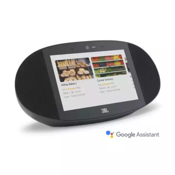 JBL Link View Smart Display Speaker With Google Assistant - Black