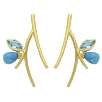 Dean Davidson Sakura Earrings - Gold/Turquoise-Blue Topaz