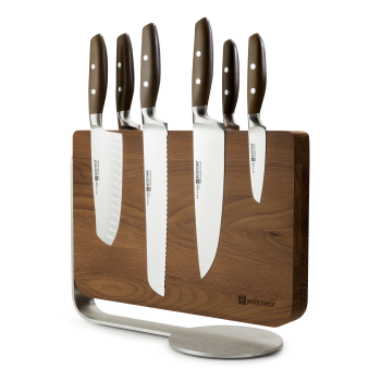 Wüsthof 7-Piece Knife Block Set with Magnetic Thermo Wood Knife Stand