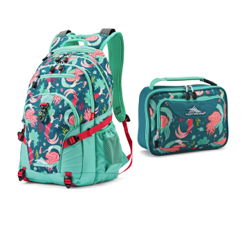 High Sierra Loop Mermaid Backpack and Single Compartment Lunch Bag