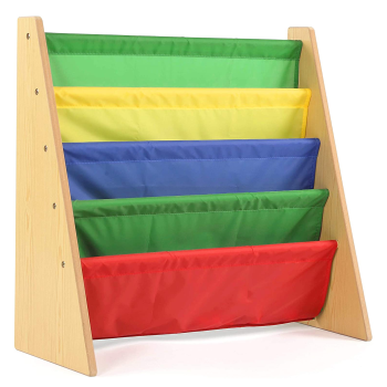 Tot Tutors 4 Pocket Book Rack - Primary Colours