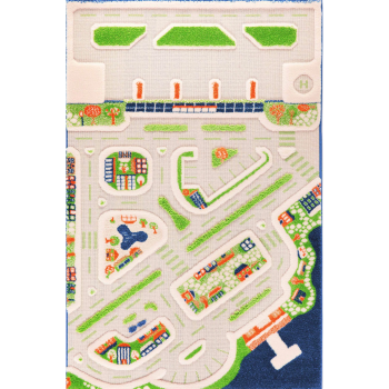 IVI 3D Play Carpet - Mini City - 59'' x 39''