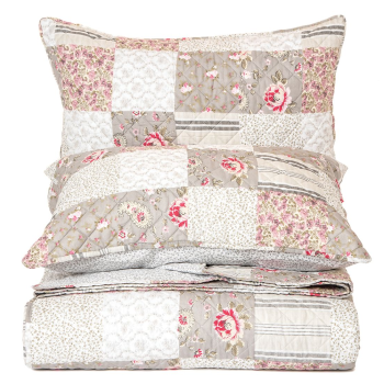 Brunelli Aziza Flowered Quilt Set - Queen