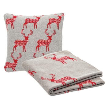 Brunelli Nowell Moose Throw and Cushion