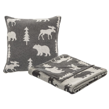 Brunelli Adirondacks Grey Throw and Cushion