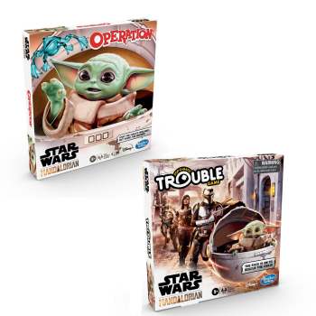 Hasbro Operation and Trouble Star Wars The Mandolarian Edition Board Game Bundle