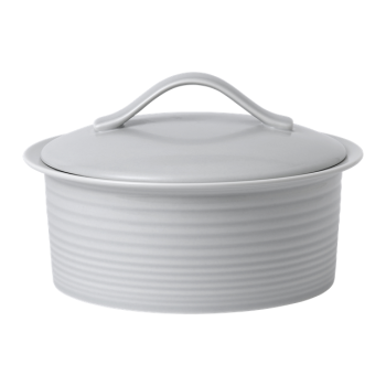 Gordon Ramsay by Royal Doulton® Maze Light Grey Round Covered Casserole