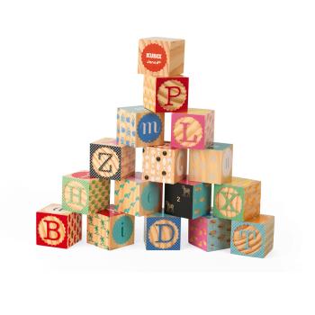 TOY DRIVE -  Janod Kubix 16 Carved Alphabet Blocks