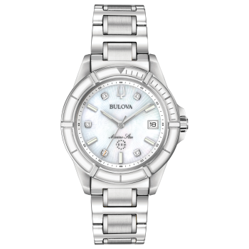 Bulova Marine Star Women's White Mother-of Pearl Dial Watch