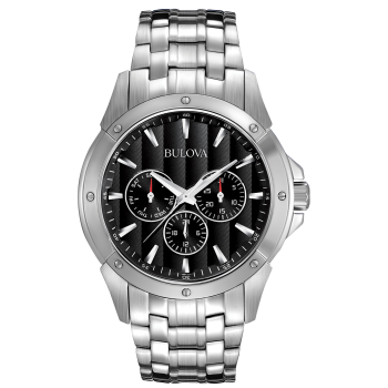 Bulova Classic Mens Silver-Tone Stainless Steel Watch