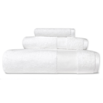 Cuddle Down Alexandria 100% Egyptian Cotton Towel - White - Set of 3