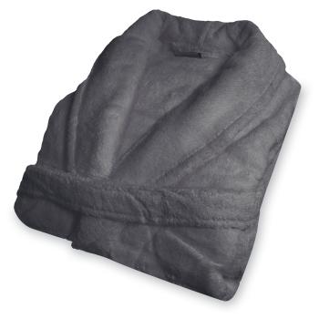 Cuddle Down Portofino 100% Zero Twist Cotton Terry Robe - Charcoal Grey - One Size - Ladies