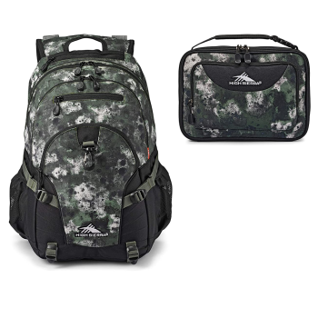 TOY DRIVE -  High Sierra Loop Camo Backpack and Single Compartment Lunch Bag