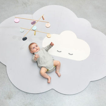 Quut Head in the Clouds Large Playmat - Pearl Grey