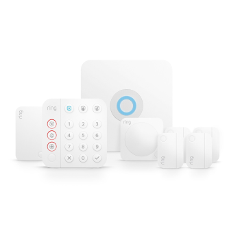 Ring® 8-Piece Alarm Home Security Kit - White