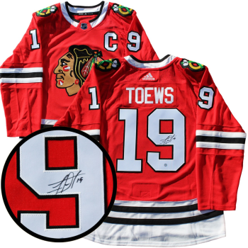 Frameworth Jonathan Toews  Signed Jersey Chicago Blackhawks Red Pro Adidas
