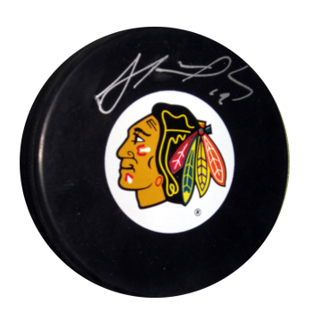 Frameworth Jonathan Toews Signed Puck Blackhawks
