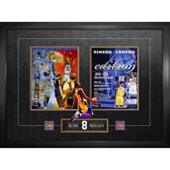 Frameworth Kobe Bryant Framed Program Back to Back 2000-2001 Champions Collage