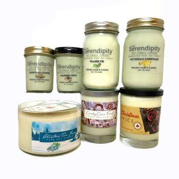 Serendipity Candles Celebrate the Holidays 7-Candle Bundle