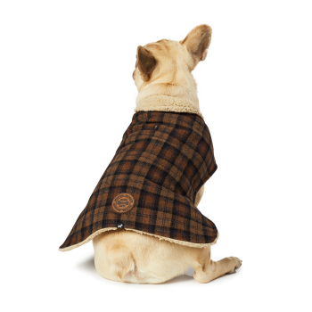 Hotel Doggy Brown Melton Blanket Coat With Sherpa Lining - XXXL