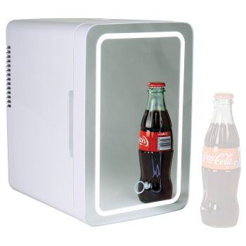 Koolatron Mirrored LED Cooler/Fridge for Cosmetics, Beverages, Food, or Medicines