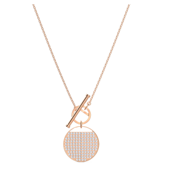 Swarovski Ginger T-Bar Necklace - Rose Gold
