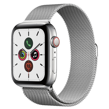 Apple Watch Series 5 Stainless Steel Case with Stainless Steel Milanese Loop - 44mm - GPS + Cellular