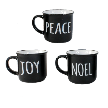 Koppers Home Set of 3 Holiday Ceramic Mugs