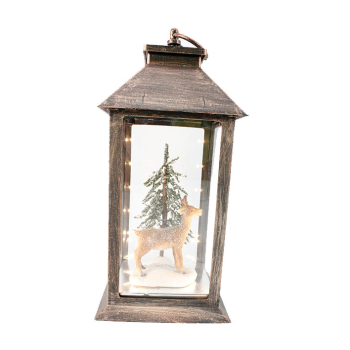 Koppers Home LED Deer Lantern
