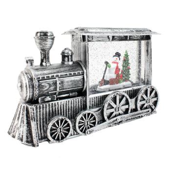 Koppers Home LED Snowman Snow Globe Train