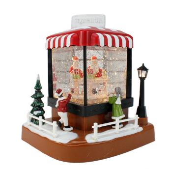 Koppers Home LED Santa's Toyshop Snow Globe