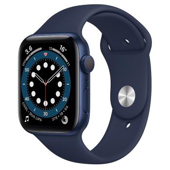 Apple Watch Series 6 Blue Aluminium Case with Deep Navy Sport Band - 44mm - GPS