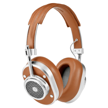 Master & Dynamic MH40 Wireless Over-Ear Headphones - Silver Metal/Brown Coated Canvas