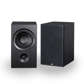 PSB Alpha P5 Bookshelf Speakers - Black Ash Woodgrain - Set of 2