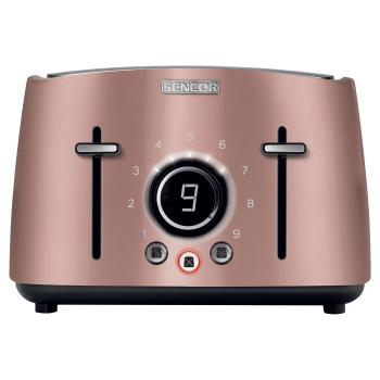 Sencor® 4-Slice 1600W Electric Toaster - Rose Gold