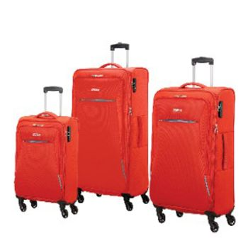 American Tourister Rally 3-Piece Nested Luggage Set - Lava Red