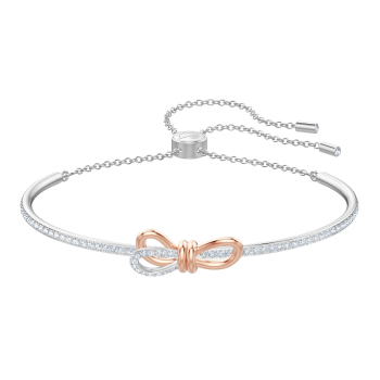 Swarovski Lifelong Bow Bangle - Medium