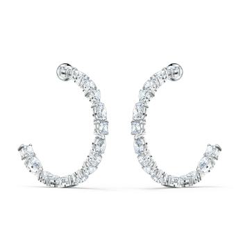 Swarovski Tennis Deluxe Mixed Hoop Pierced Earrings