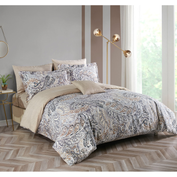 Wonder Home Fashion Novah 4-Piece Duvet Cover Set - Queen