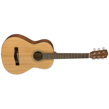 Fender FA-15 3/4 Scale Steel with Gig Bag, Walnut Fingerboard Guitar - Natural Finish with Fender Guitar Essentials