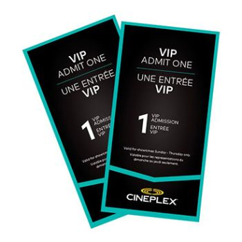 Cineplex Entertainment - VIP Admission (Package of 2)