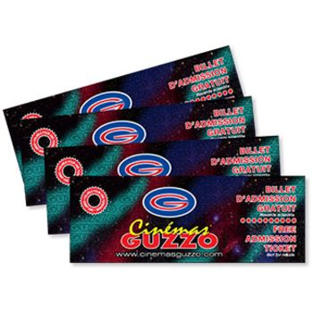 Guzzo Cinemas - Single Admission (Package of 4)