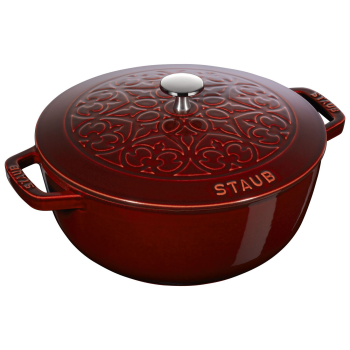 Staub 5L Cast Iron Round French Oven - Grenadine Red