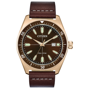 Citizen Vintage Brycen Sport Men's Eco-Drive Brown Dial Watch