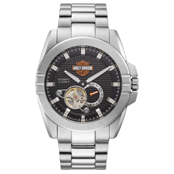 Bulova Harley Davidson Men's Automatic Throttle Stainless Steel Watch