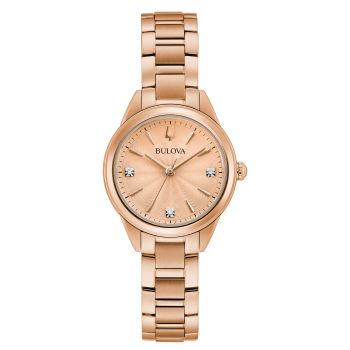 Bulova Sutton Ladies Rose-Gold Tone Watch