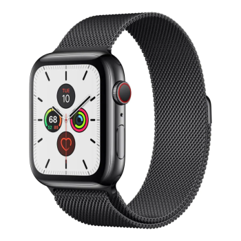 Apple Watch Series 5 Space Black Stainless Steel Case with Space Black Milanese Loop - 44mm - GPS + Cellular