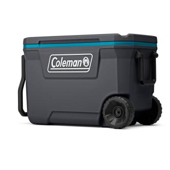 Coleman 62-Quart Wheeled Cooler - Dark Stone/Sea Blue